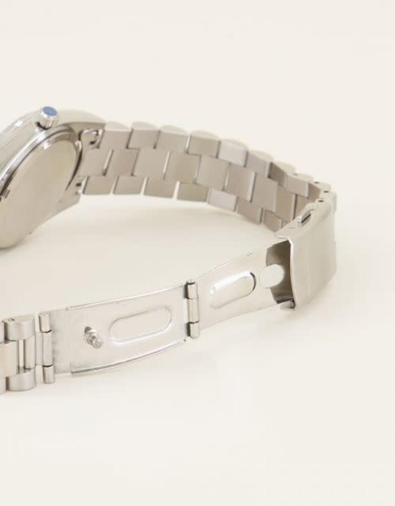 My Jewellery Horloge metalen band grof ZILVER