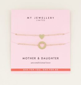My Jewellery Moeder & dochter armband GOUD