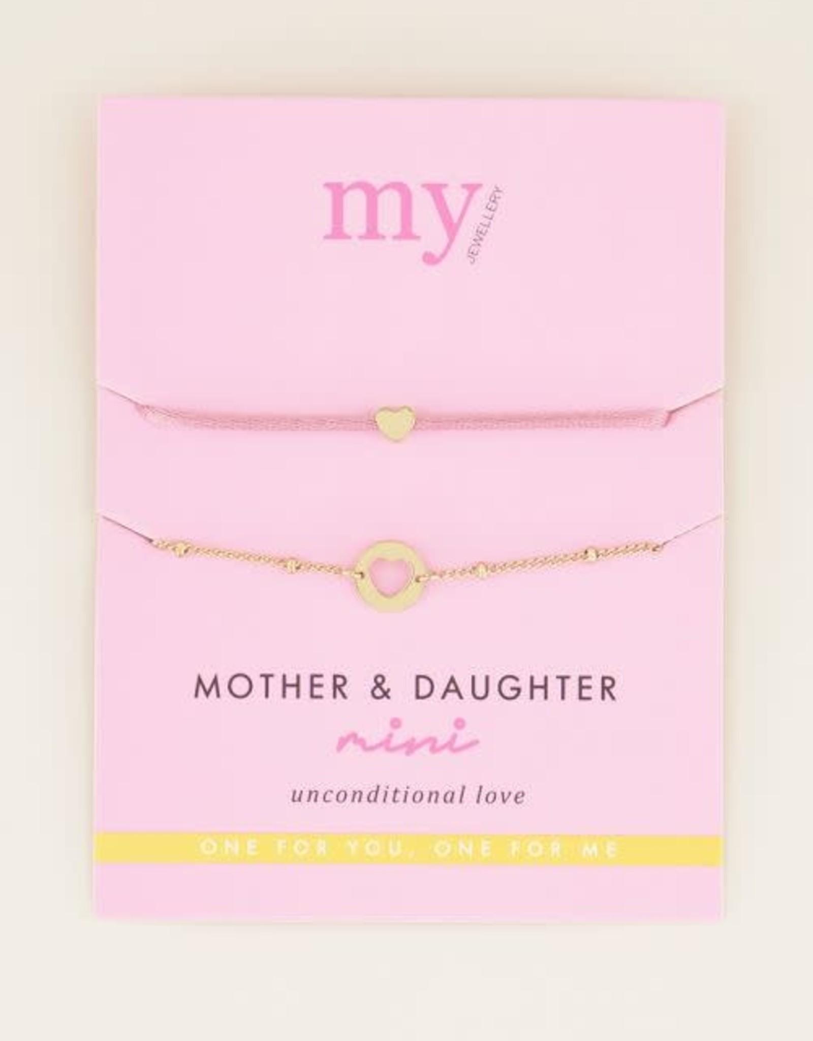 MyJewellery Moeder & dochter armband pink