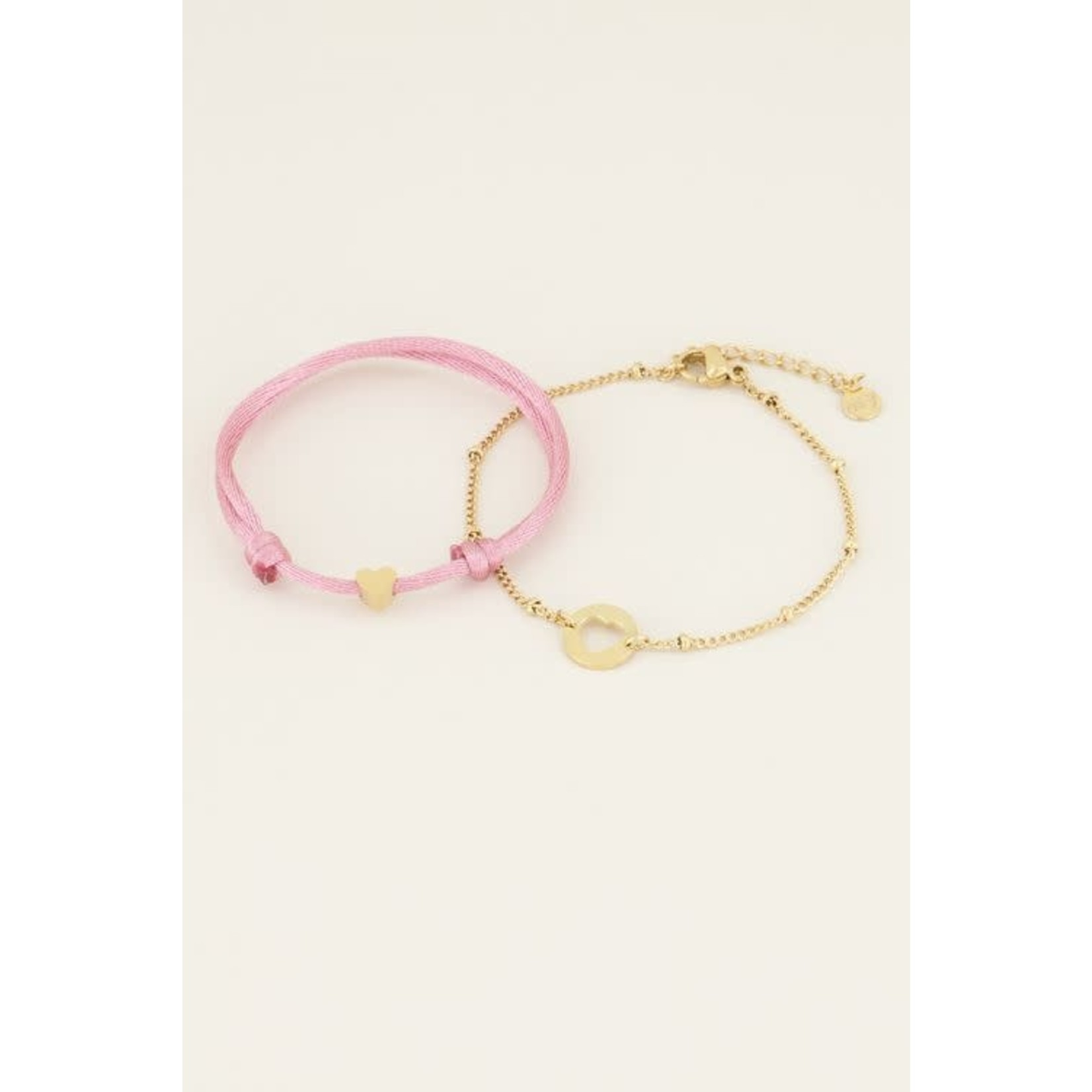 MyJewellery Moeder & dochter armband pink