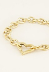 My Jewellery Schakelarmband met hartje GOUD