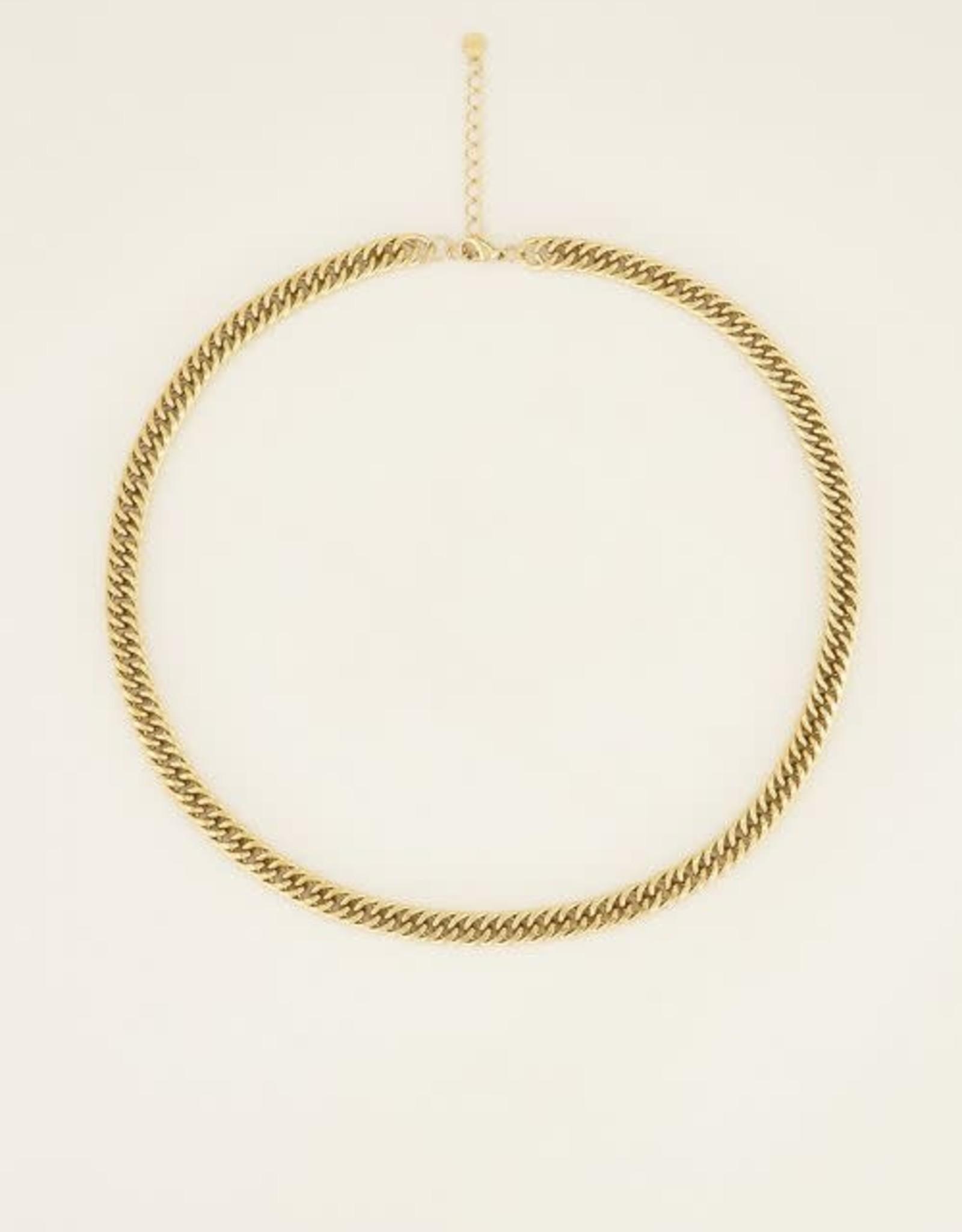 My Jewellery Ketting brede schakels GOUD