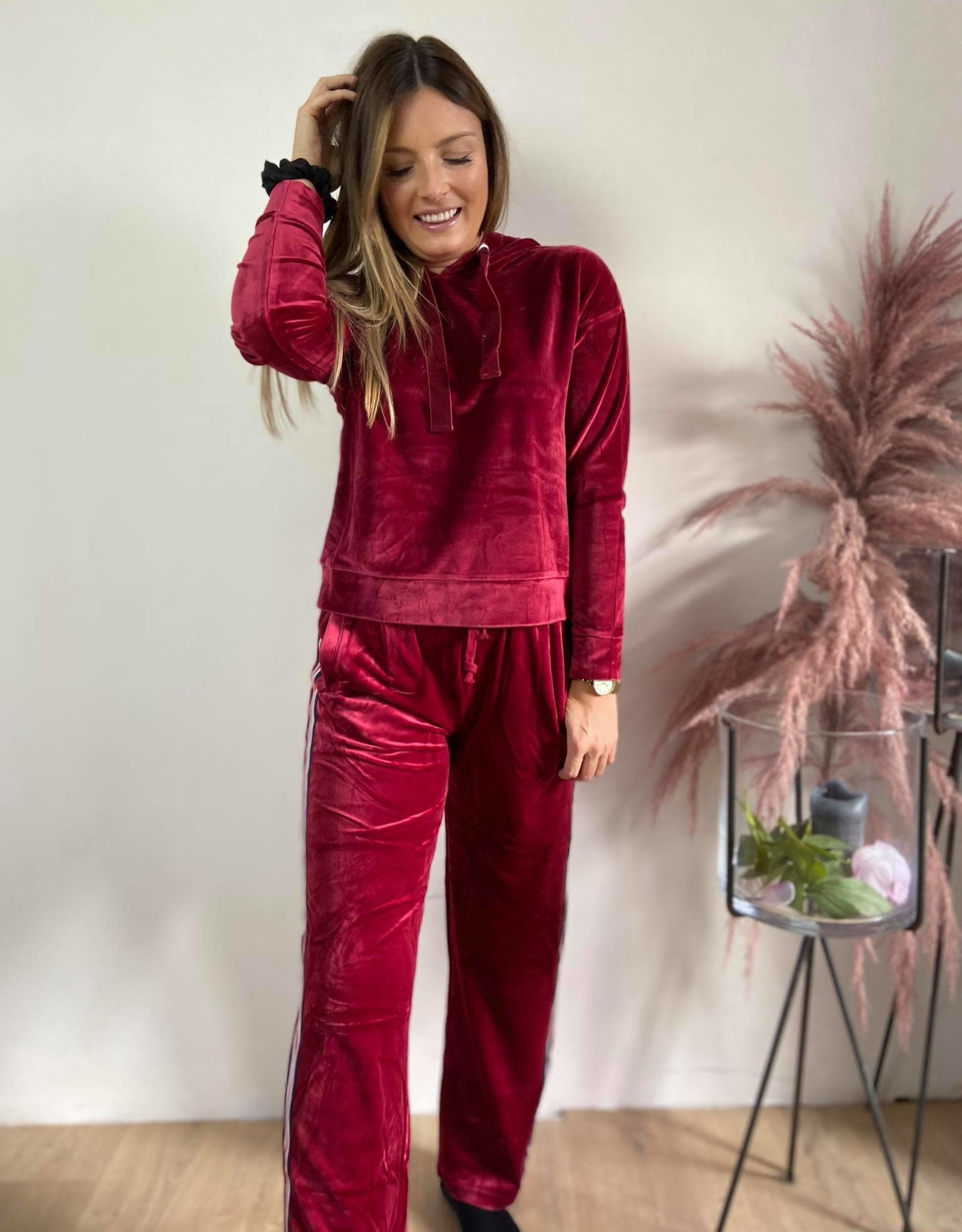 jogging set velvet bordeaux Celina