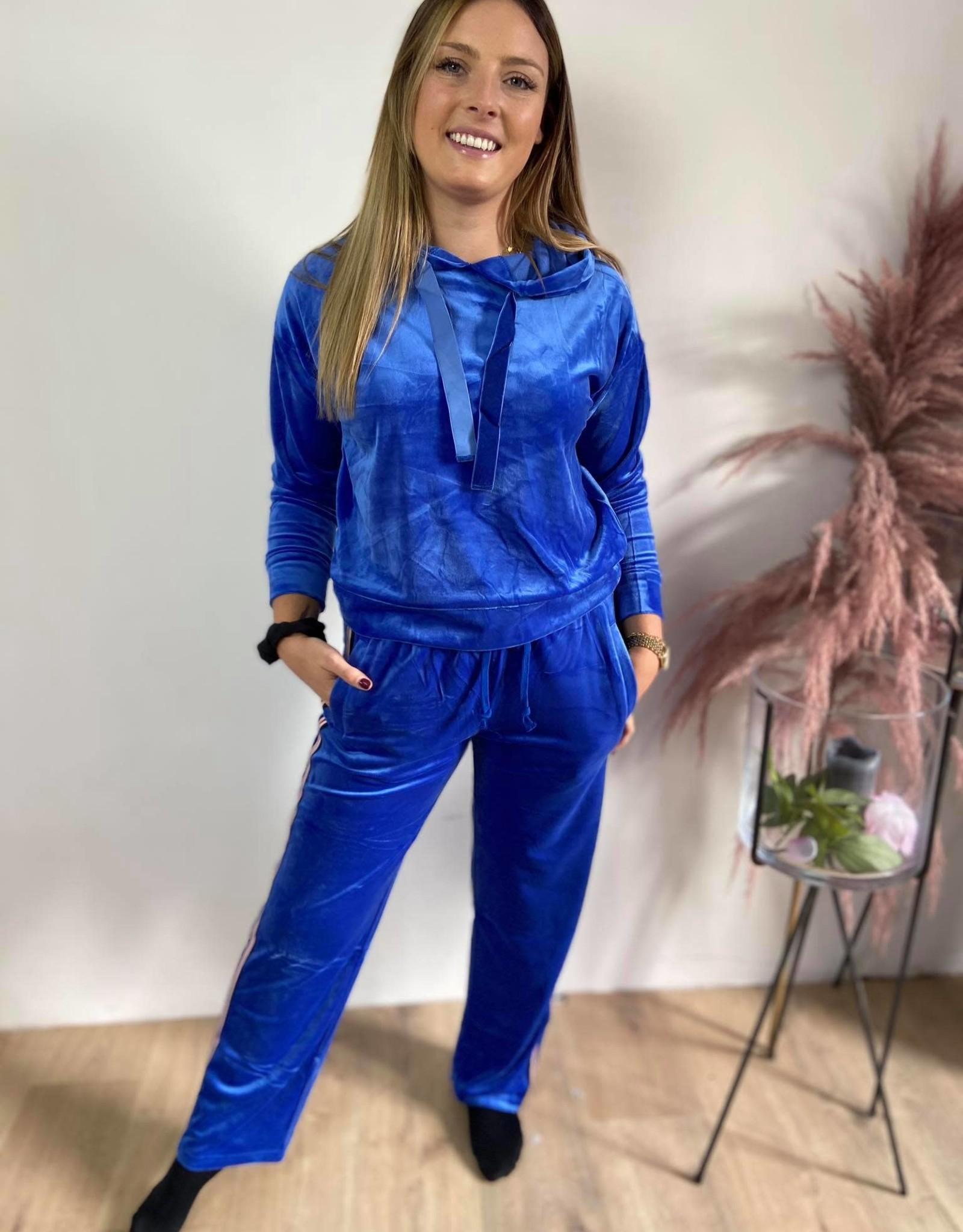 jogging set velvet royal blue Celina