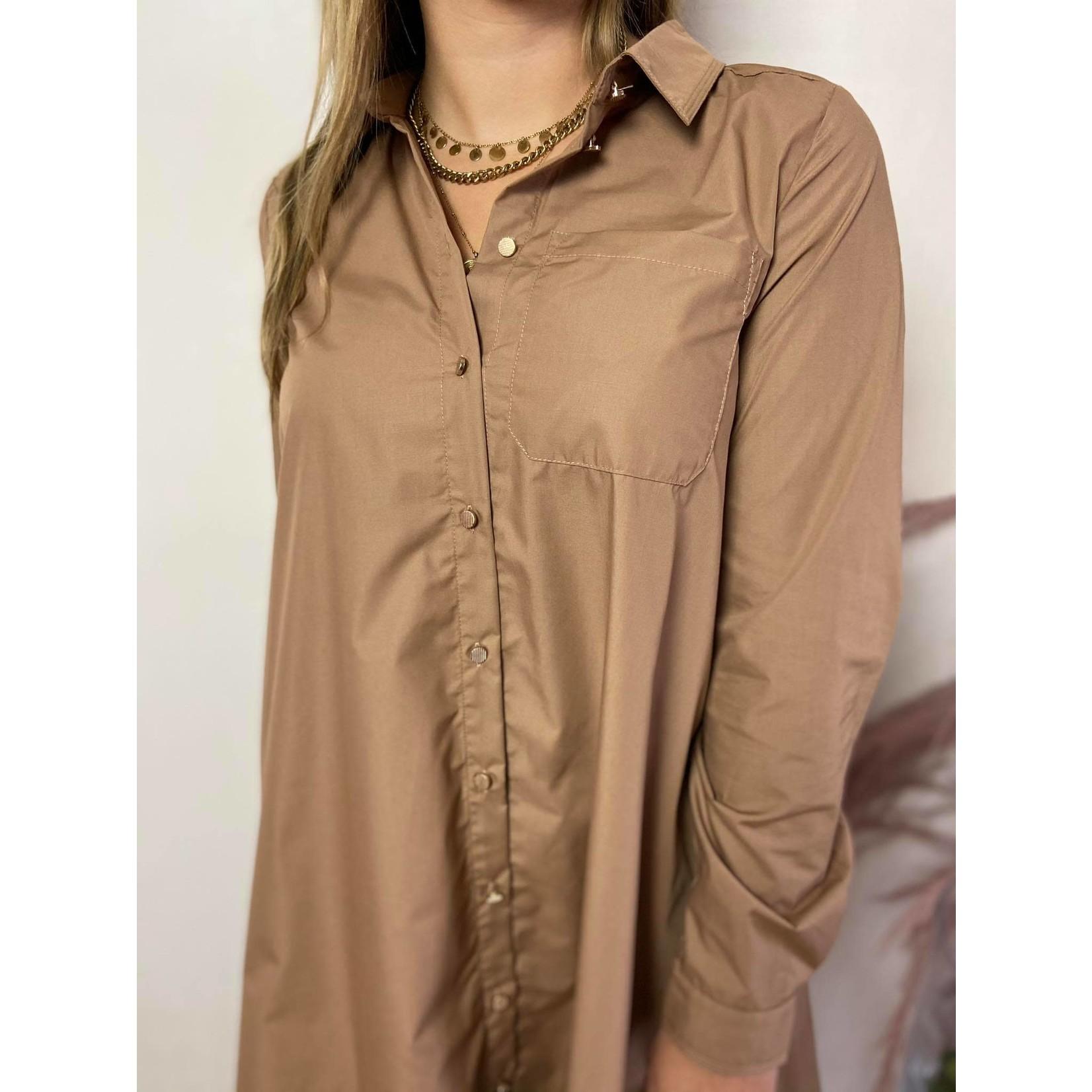 KAbeata shirt dress woodsmoke