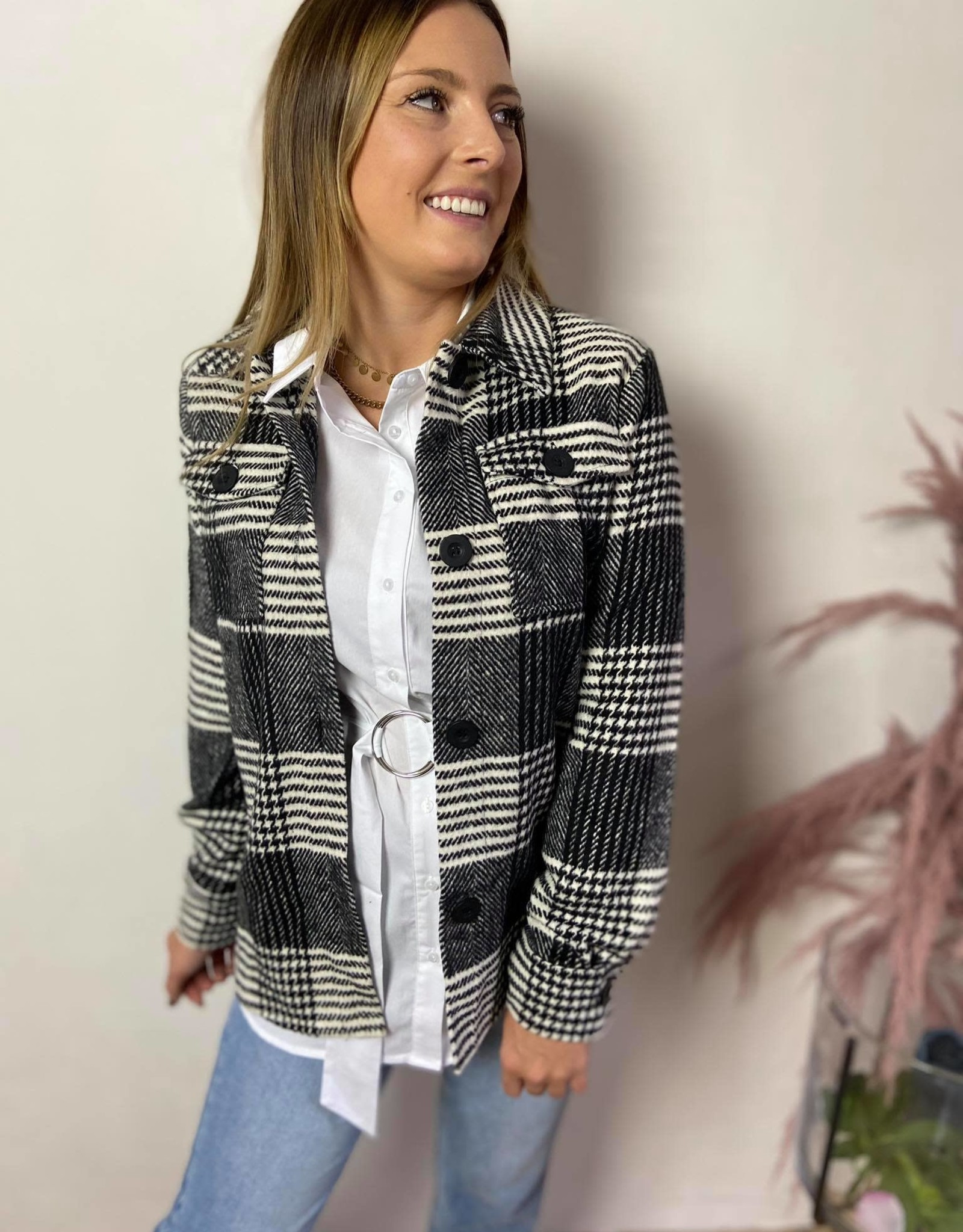 PATRICIA JACKET black/white check
