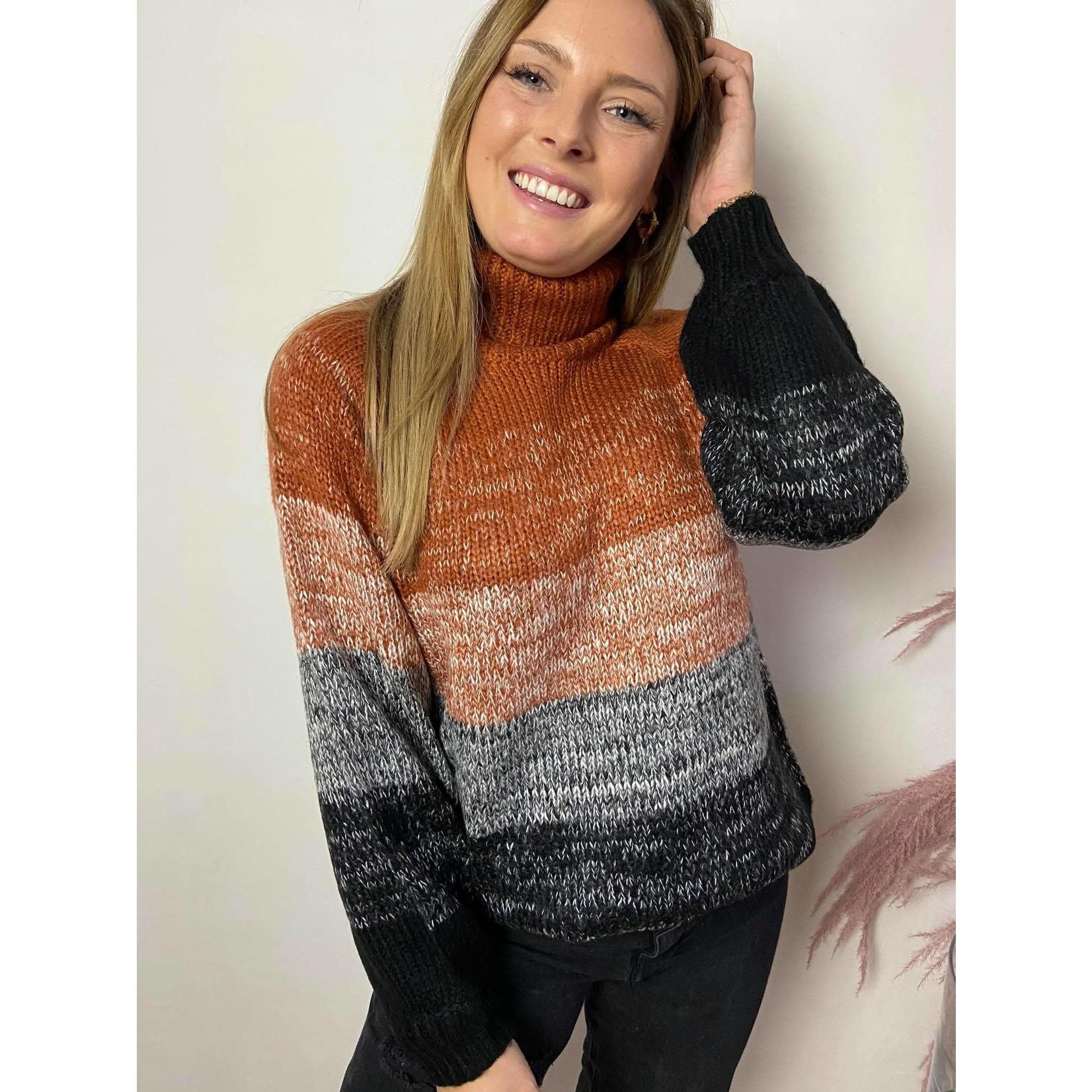 KAkaron knit pullover ginger bread