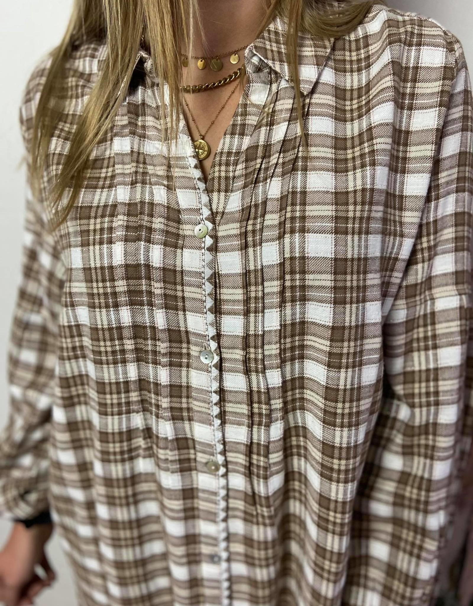 Chekiacr shirt brown check