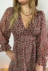 CASSANDRA DRESS red leo