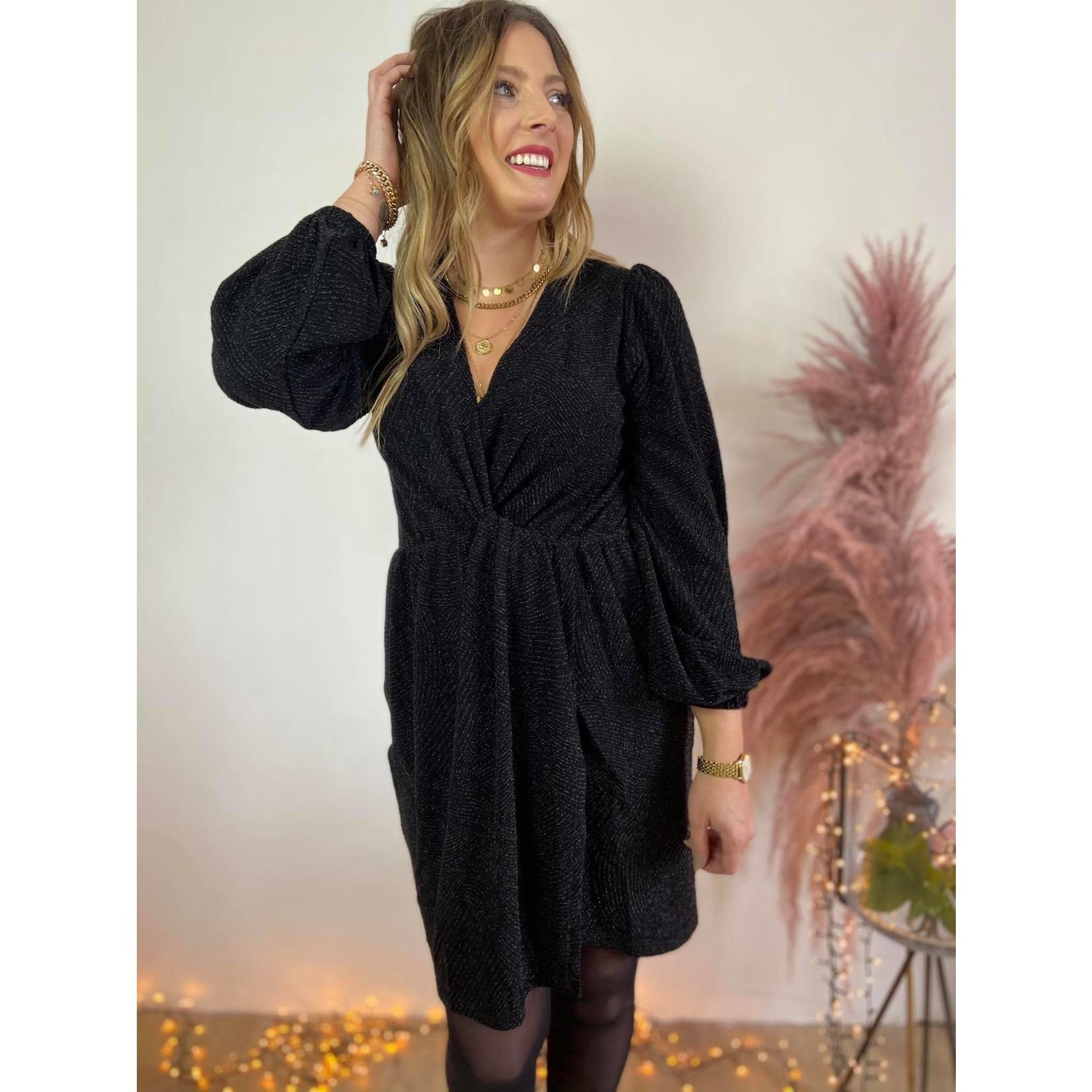 SHAKE DRESS black lurex