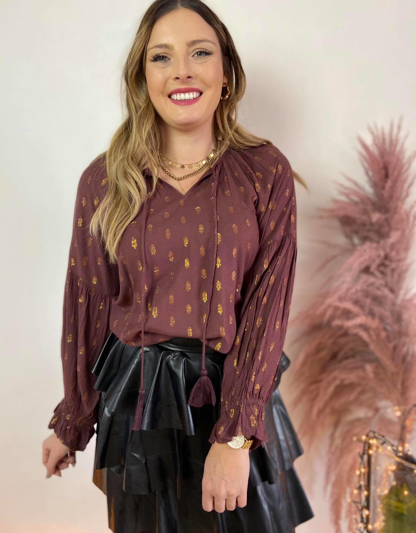 MaschaCR blouse decadent chocol