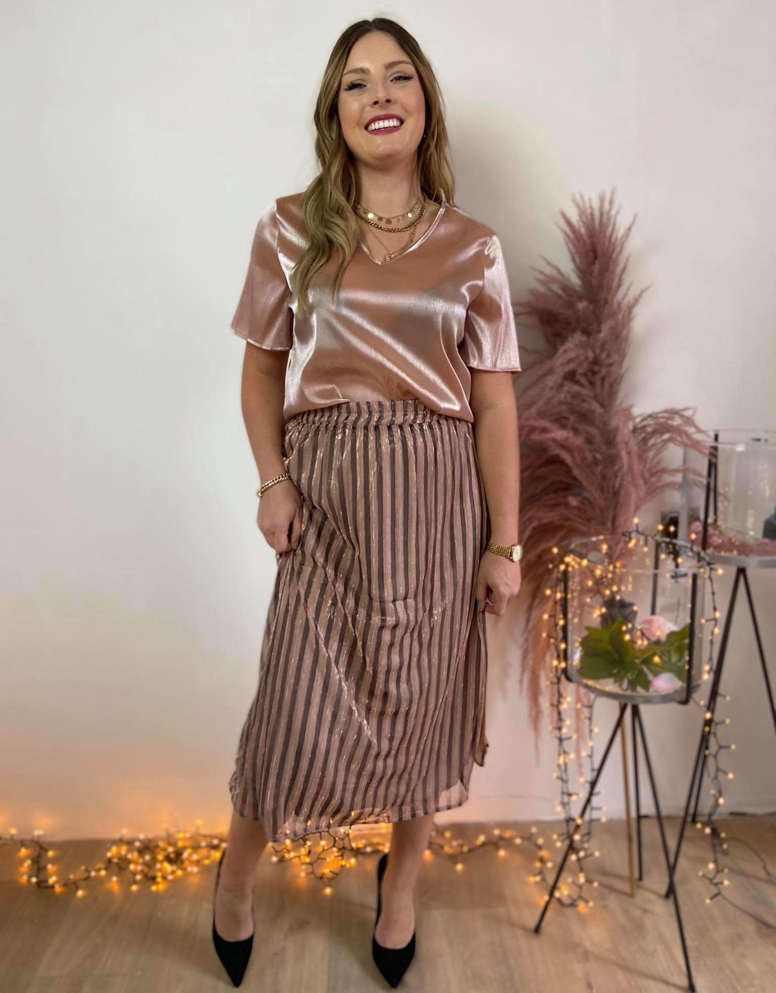 Sophia metallic skirt pink