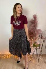 Skirt Raya black flower