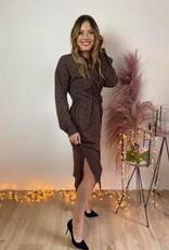 Dress elie black pink