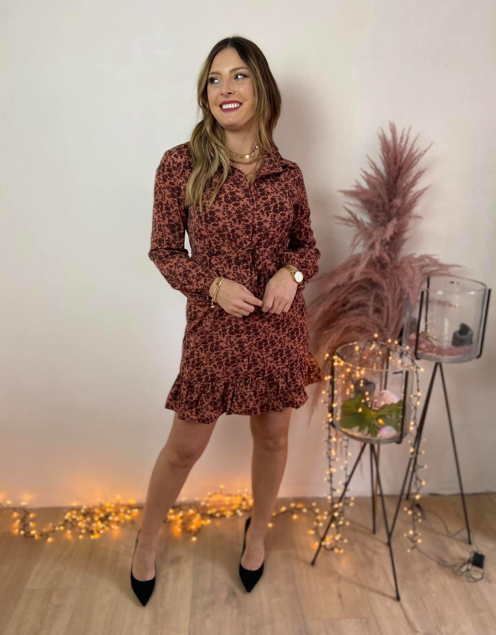 Dress Gaby pink/red