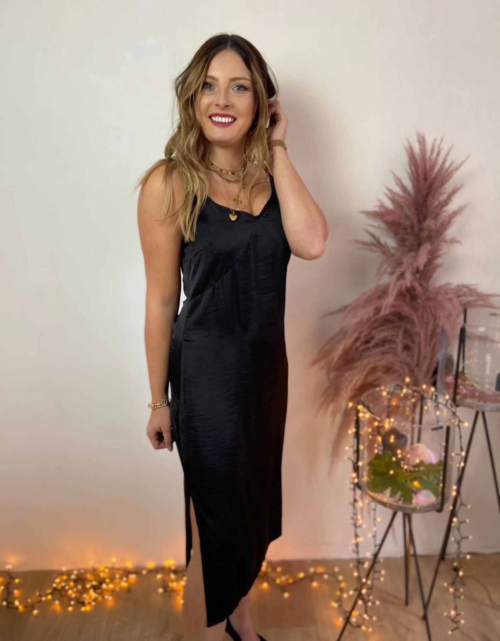 NADJA STRAP DRESS black