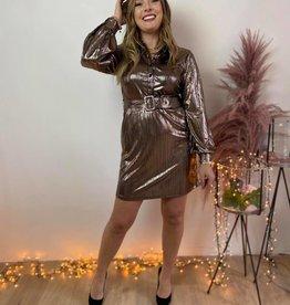 SERENA DRESS gold