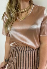 Taylor v-neck top neutral