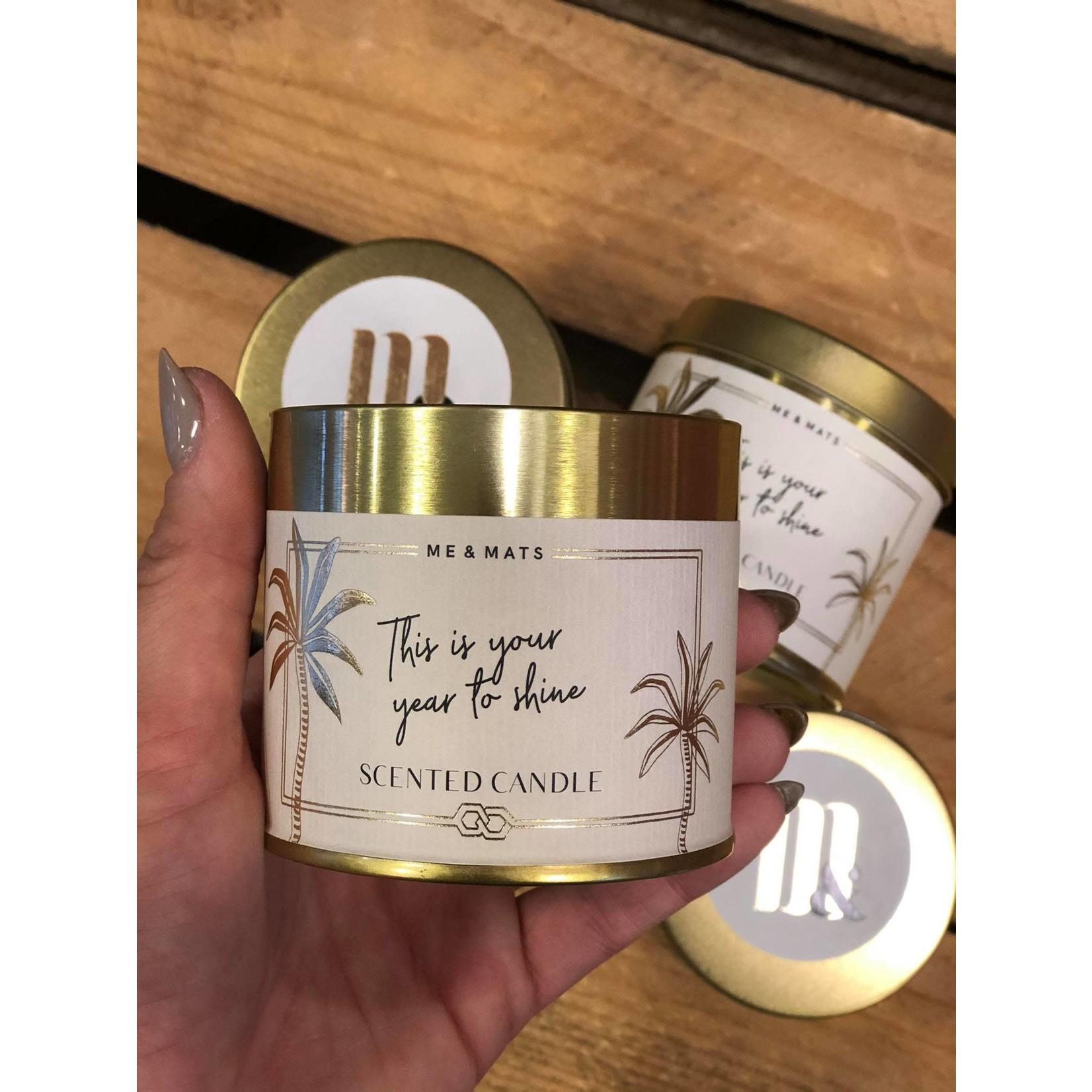 ME&MATS Tin candle - Time to Shine