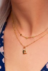 MY JEWELLERY Ketting drie hartjes goud