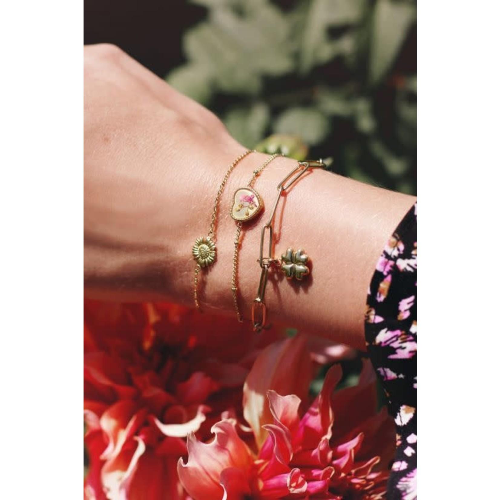 MY JEWELLERY Armband wildflower hartje goud