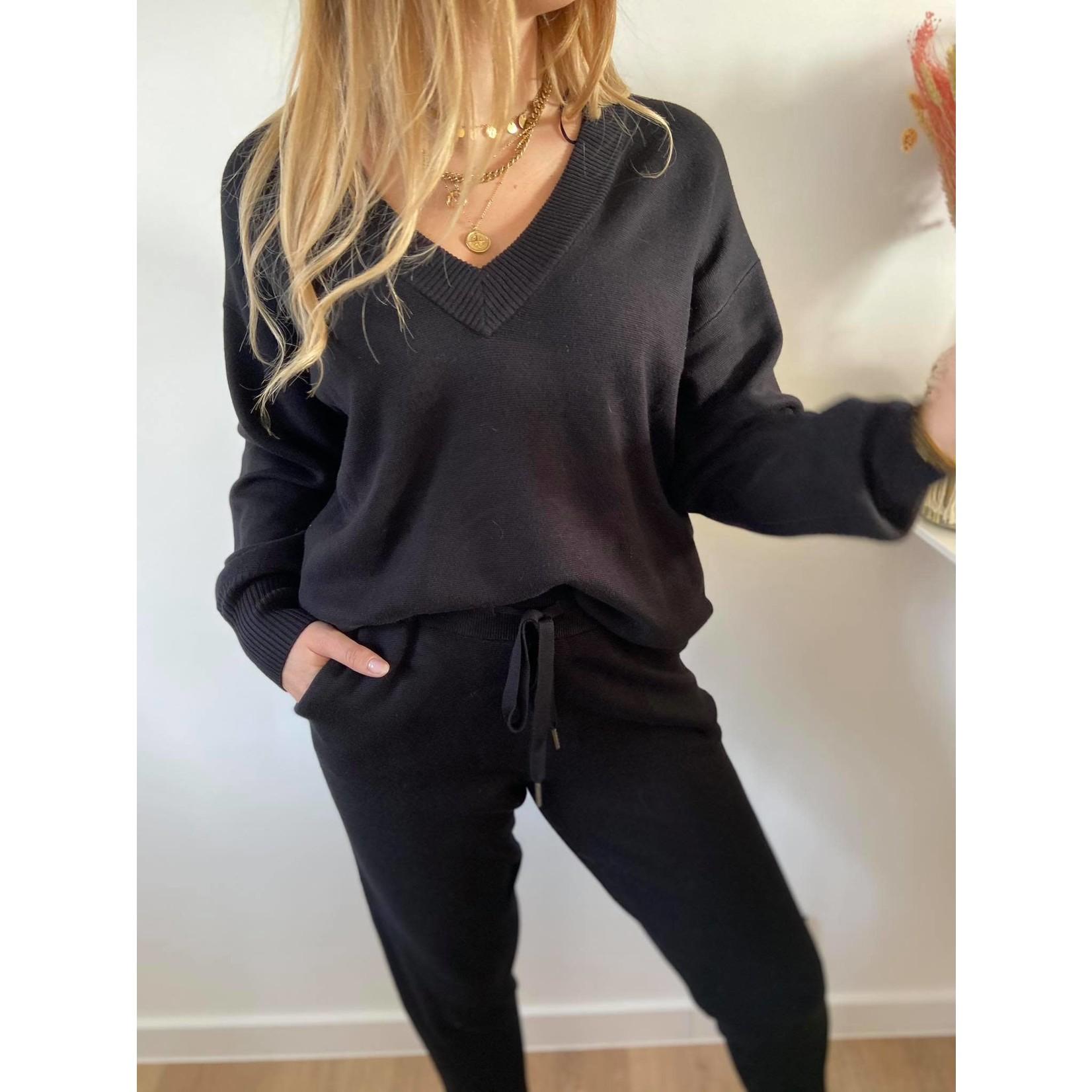 KAkitlyn Knit Pullover black