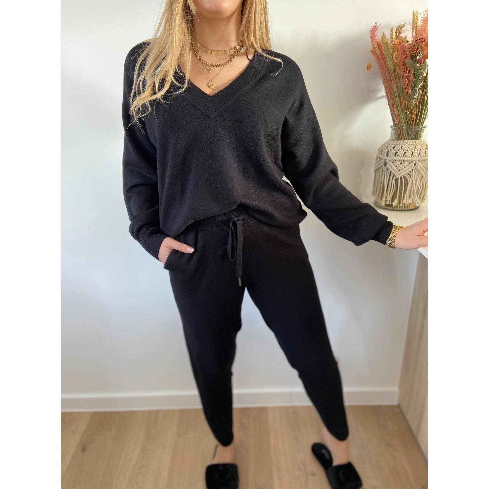 KAkitlyn 7/8 Knit Pants black