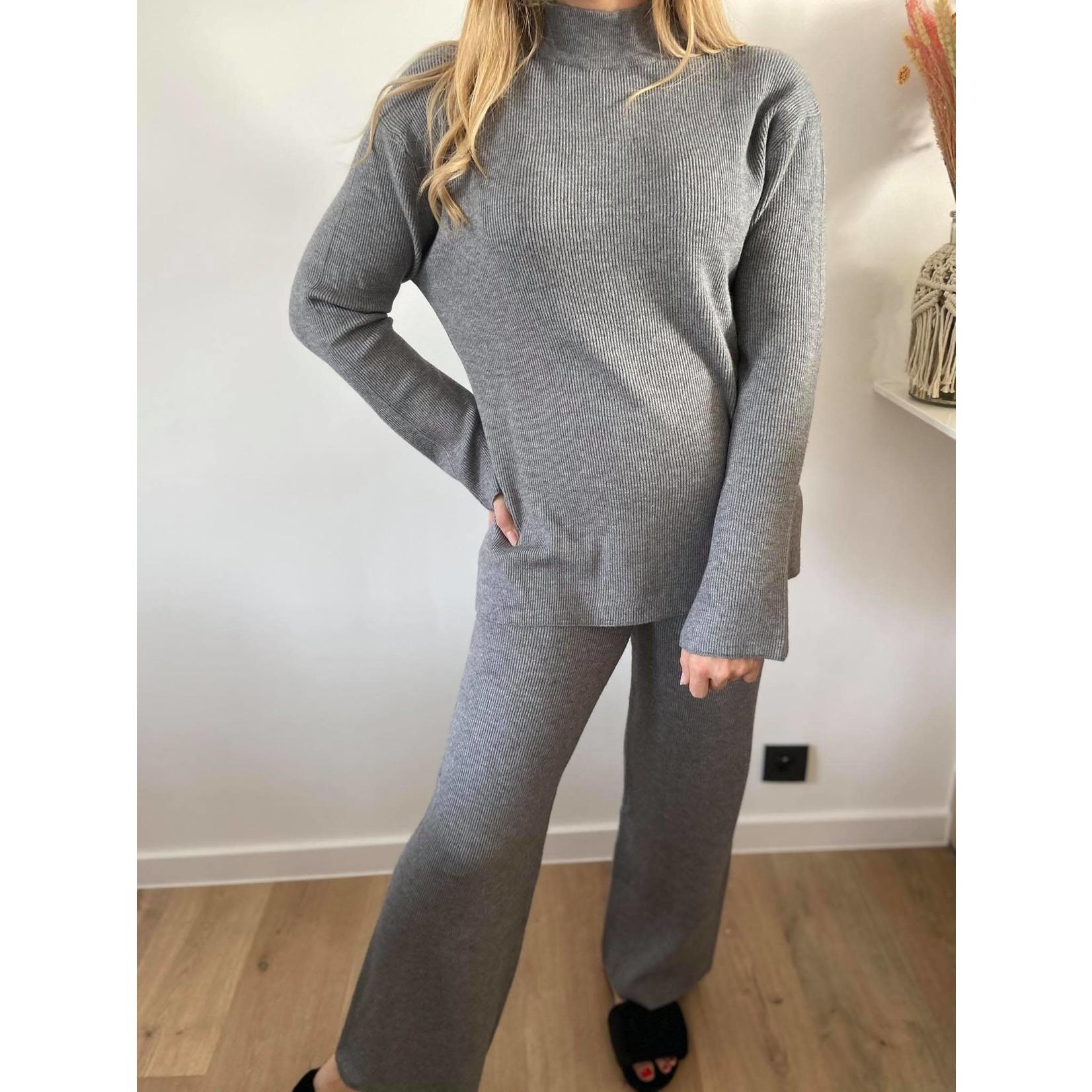 MAJA knit pant grey