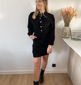 Cuduroy dress black