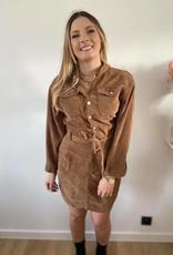 Cuduroy dress taupe