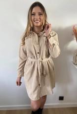 long shirt on cuduroy beige