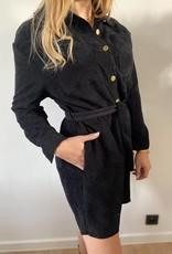 long shirt  cuduroy black