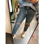Slim fit mom jeans denim