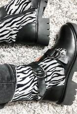 Kingston zebra leer/suede
