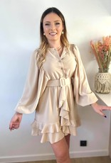 Musthave Ruffled dress beige