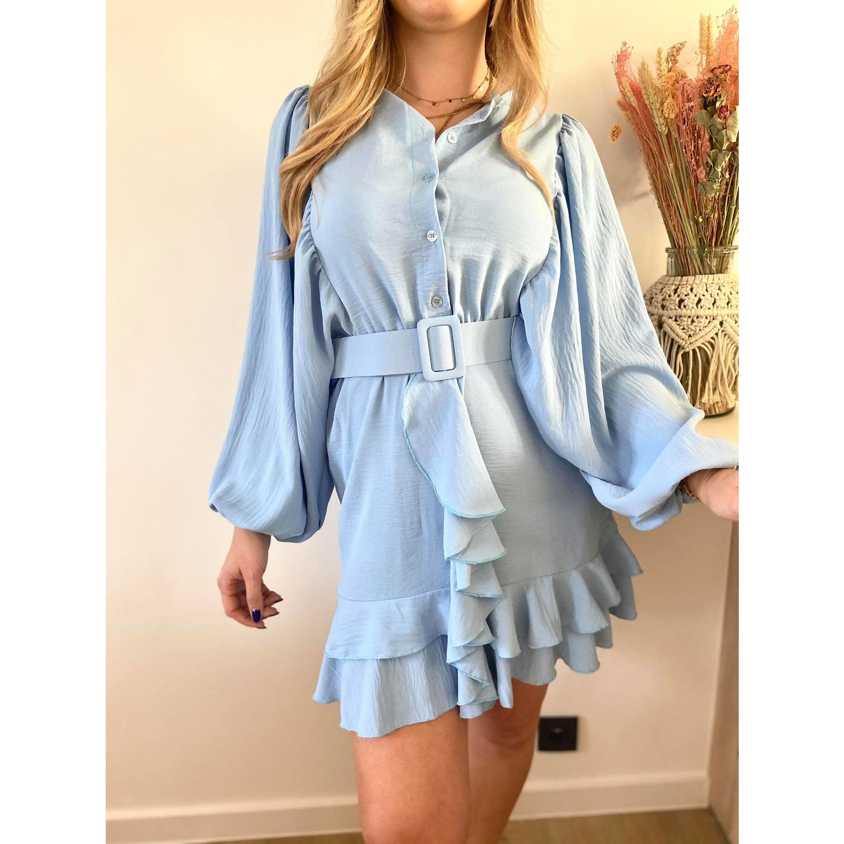Musthave Ruffled dress blue