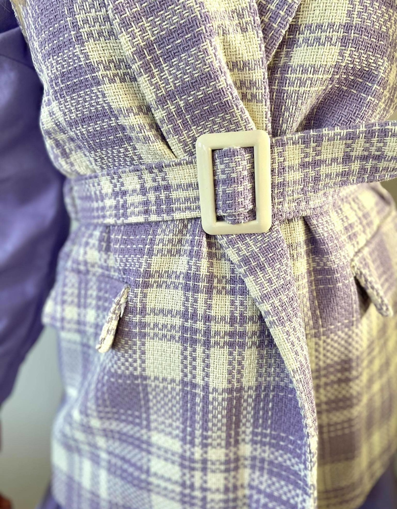 Sleeveless check  jacket lila TU