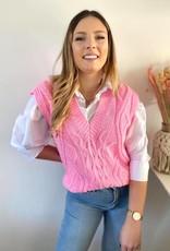 Sleeveless sweater pink TU