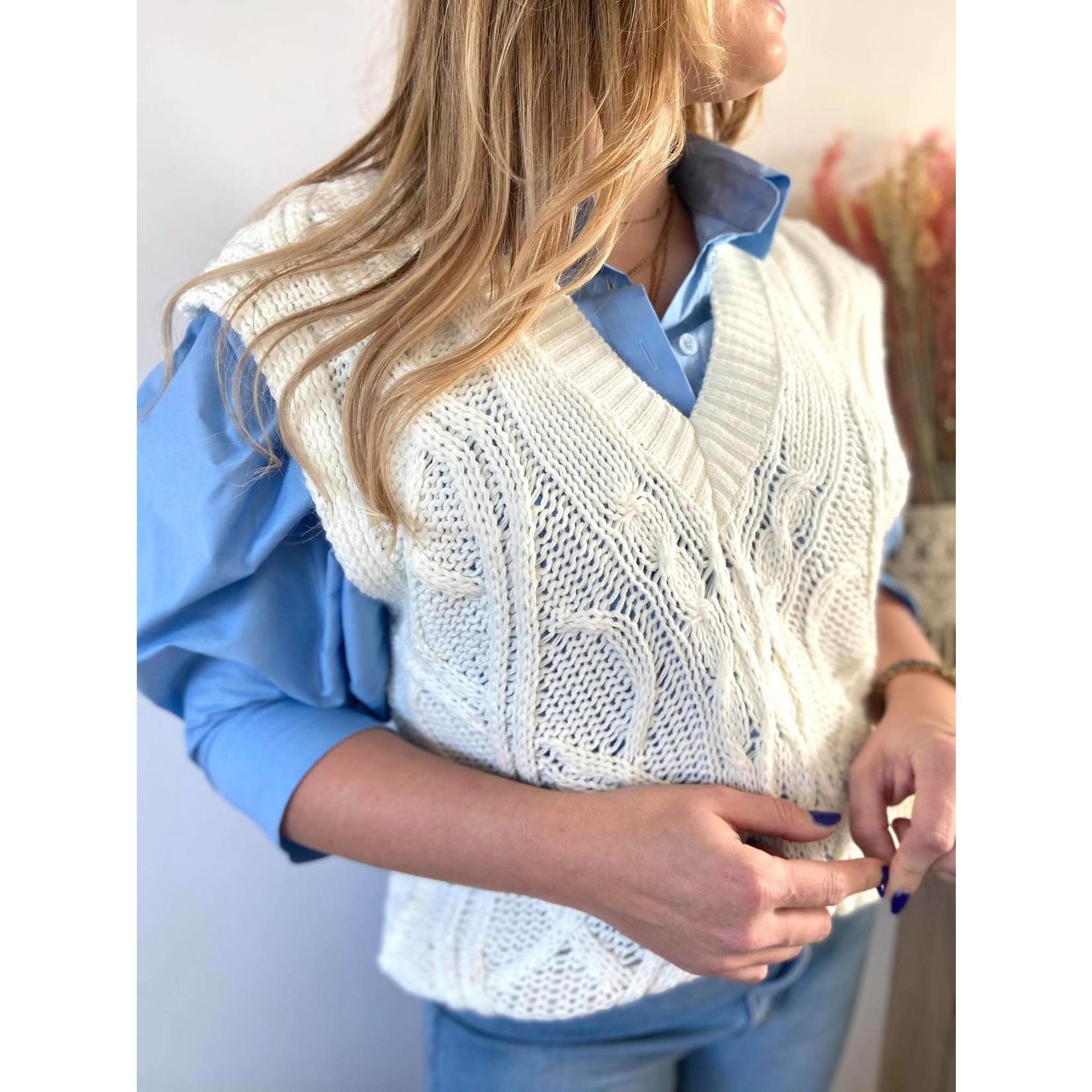 Sleeveless sweater Wit TU