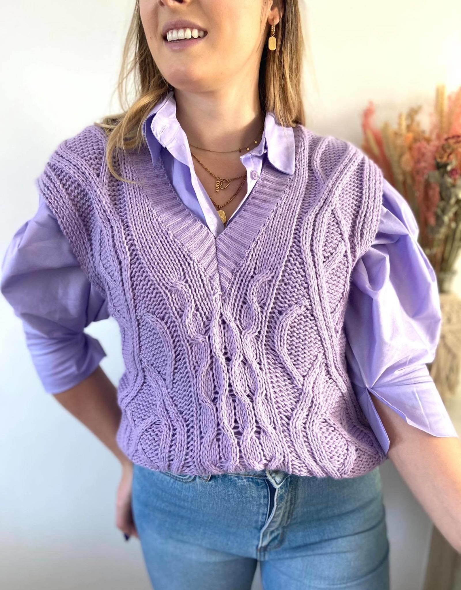 Sleeveless sweater lila. TU