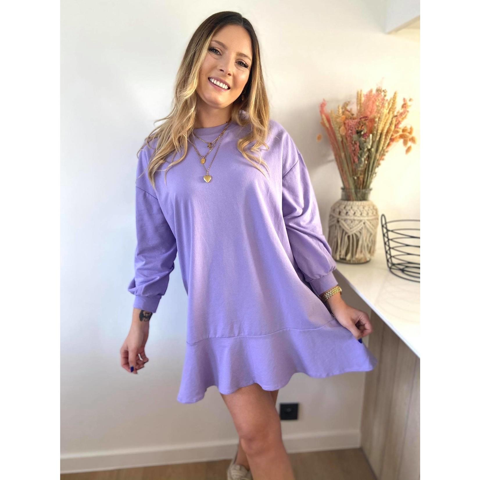 Sweatshirt dress with ruffles pink TU