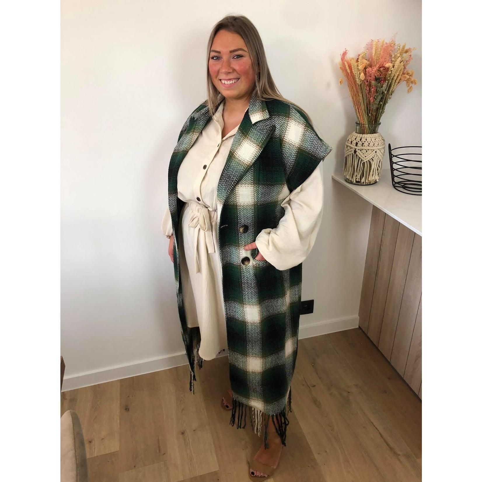 Sweet buttoned dress beige