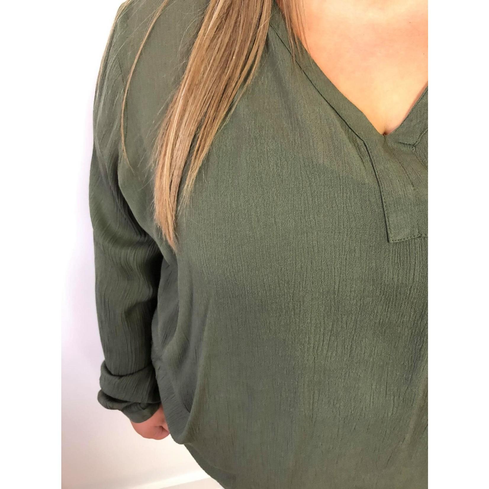 Amber blouse grape leaf