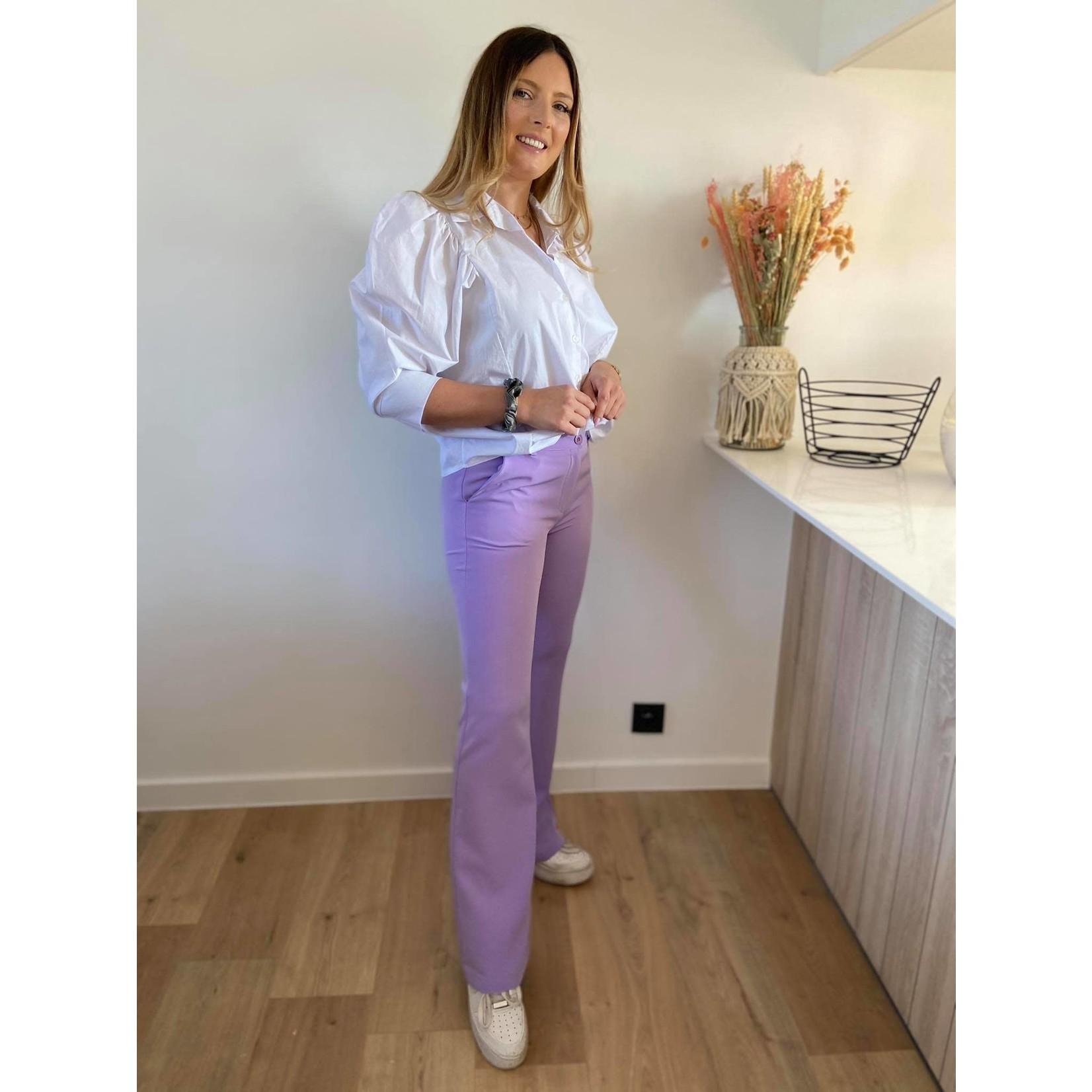 Flared stretch pants lila