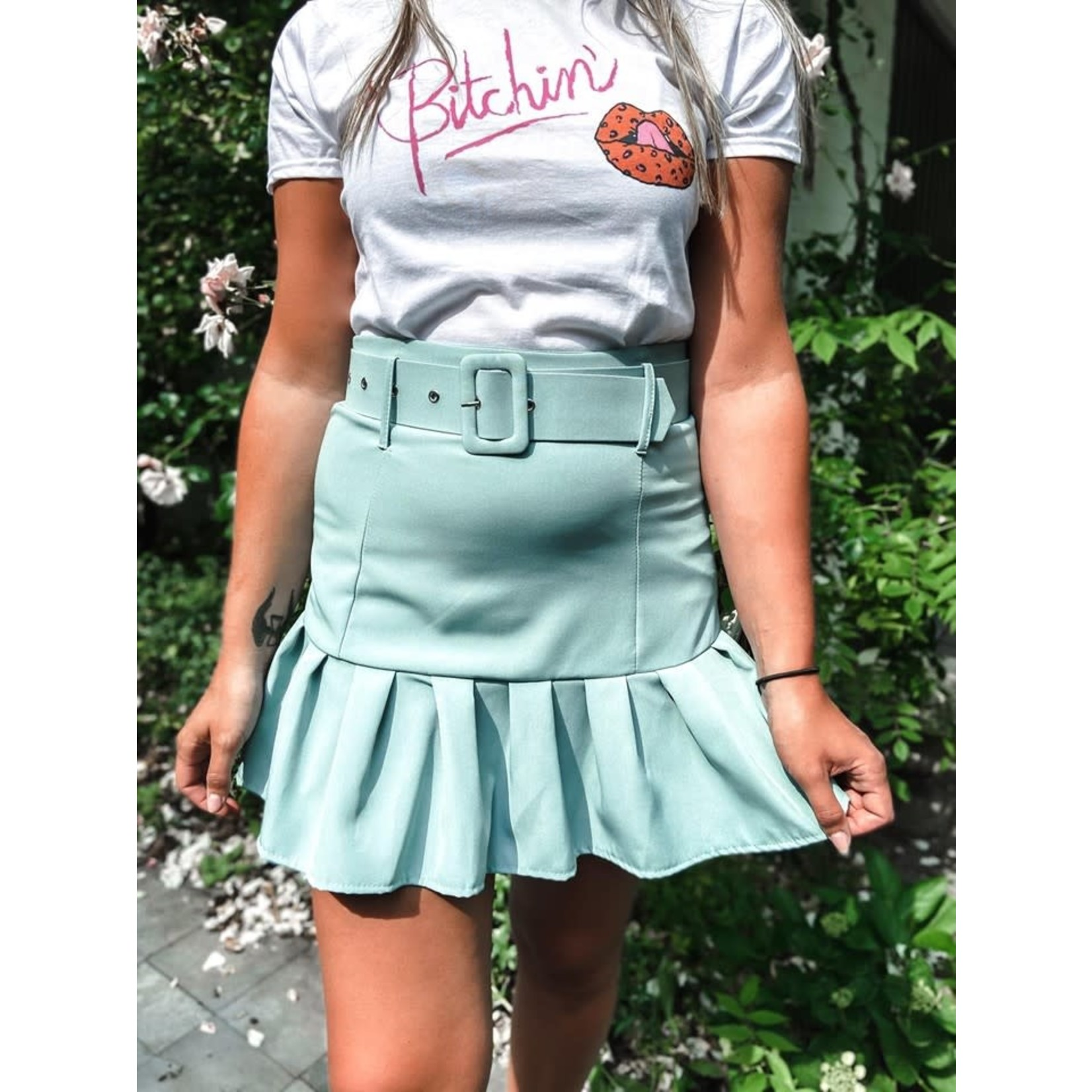 Skirt with ruffles ocean wave