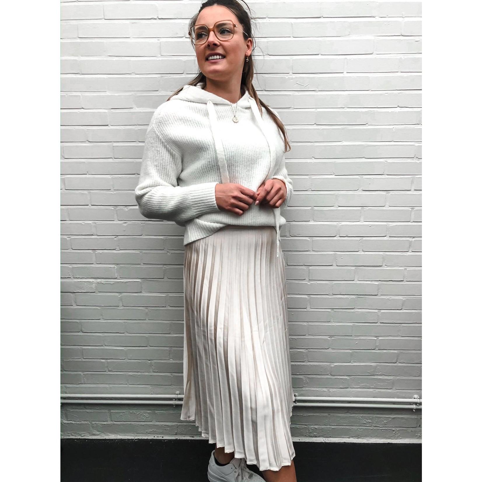 BIANCA PLEATED SKIRT beige