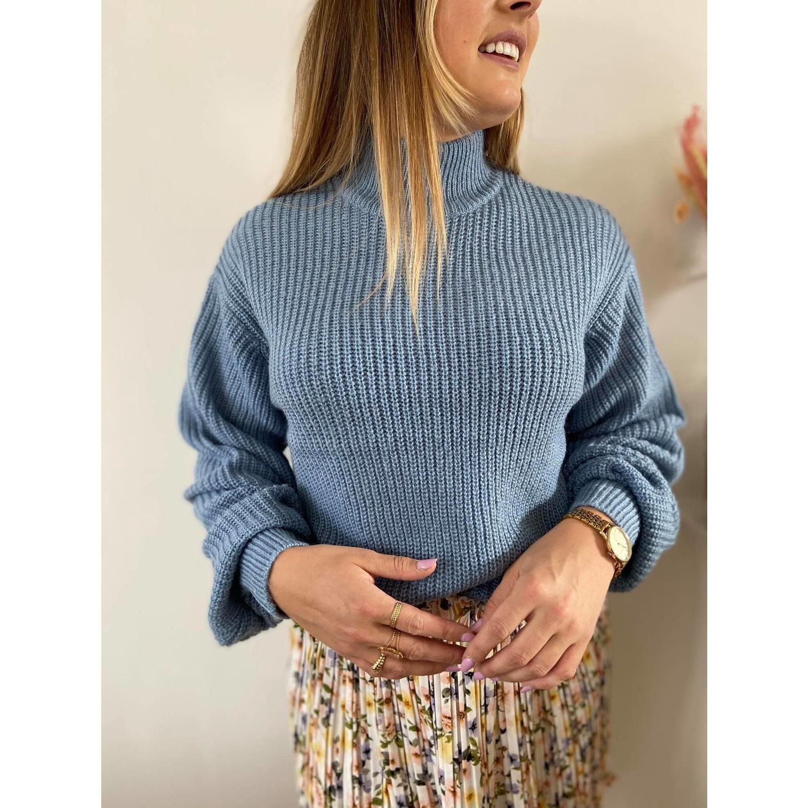 MELINA knit mid blue