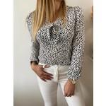 ZANDY blouse black white