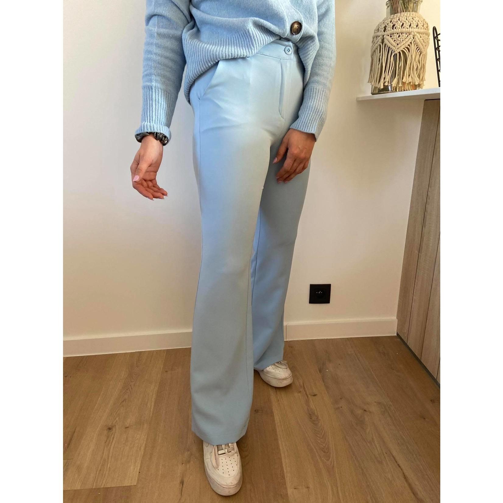 Flared stretch pants blauw