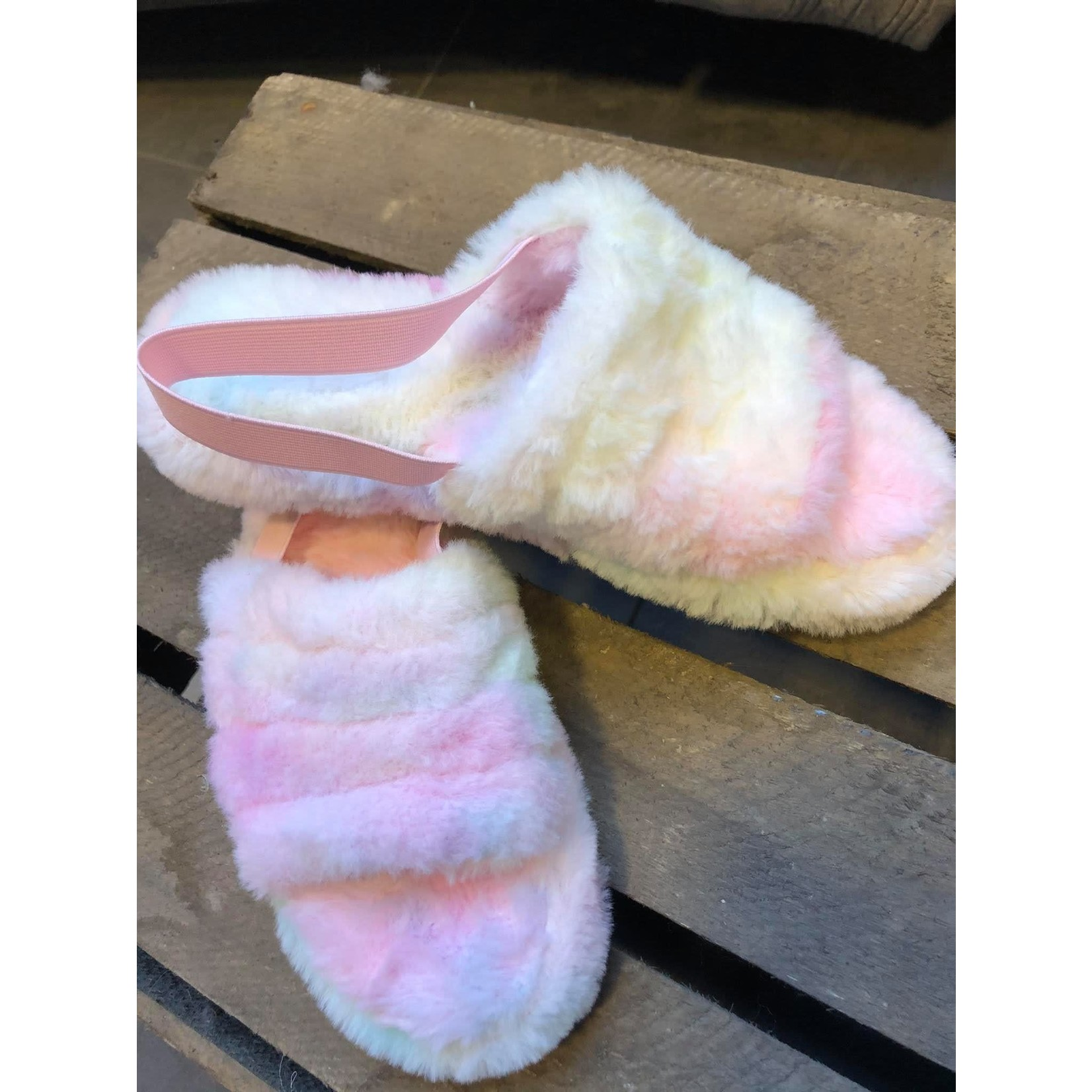 Fur slippers multi